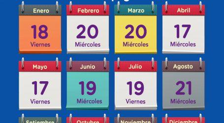 Calendario de pagos 2019
